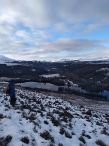 Walking the hills above True North Lodge