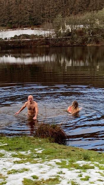Swimming in Loch Oich
