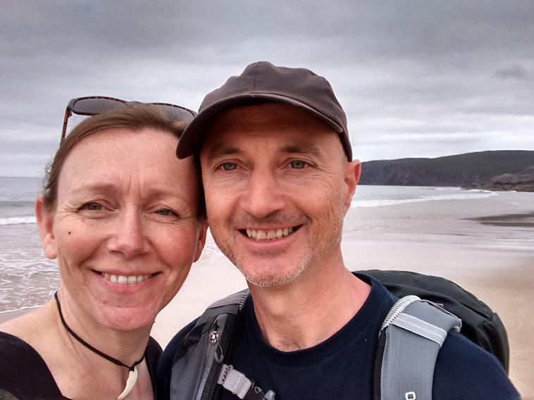 Caroline & Dave at Sandwood Bay