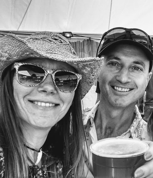 Dave & Caroline at a festival