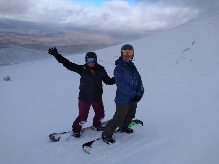 Caroline & Dave Snowboarding