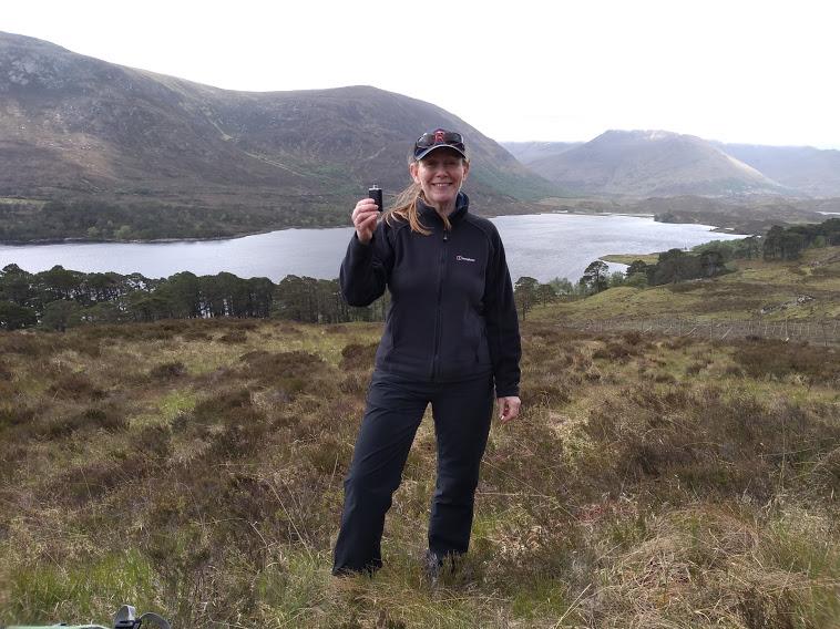 Caroline at Loch Affric