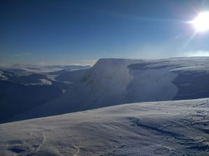 View from the top of Aonach Mor