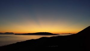 Sunset across Big Sands