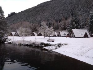 Invergarry Lodges in the snow