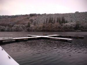 Snowy Loch Oich Moorings