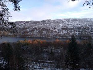 Across Loch Oich from the alternative Great Glen Way